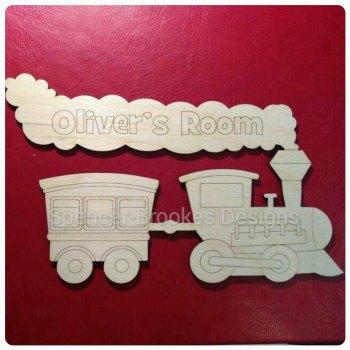 Laser Cut Train Name Plate