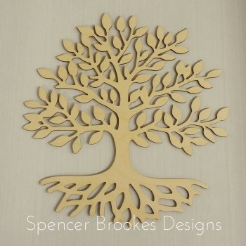 Laser Cut Tree with Roots