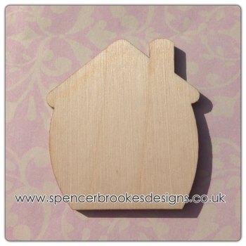 Chubby House Shape Laser Cut - 0039
