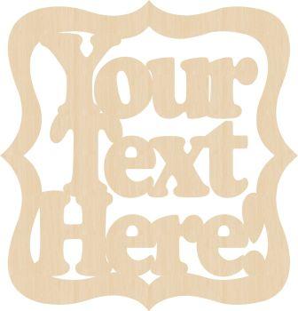 Bracket Frame - Choose your wording - 0163