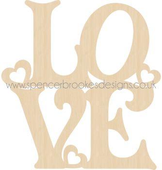 10cm Lovely 'Love' Cutout