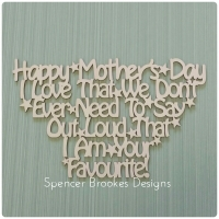 Happy Mother's Day - I am Your Favourite
