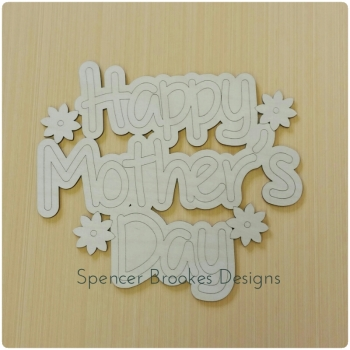 Happy Mother's Day Plaque with Flowers