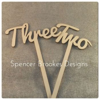 Table Numbers - Laser Cut