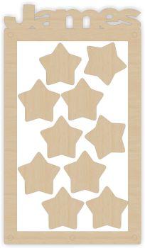 Rectangle Name Reward Jar Kit - Wooden Tokens