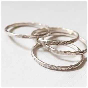 Skinny Sterling Silver Stacking Ring