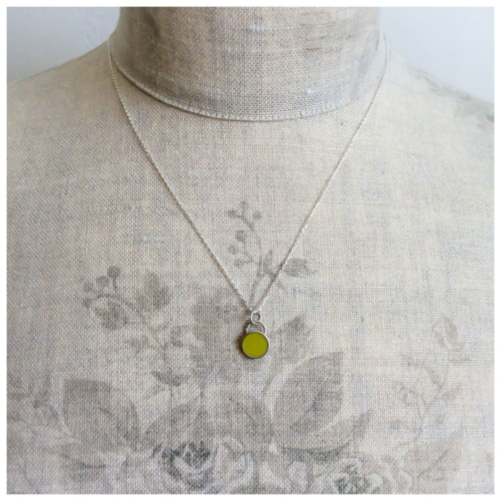 Colour Dot Pendant Sulphur Yellow (Large)
