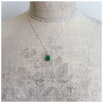 Colour Dot Pendant Emerald Green (Large)