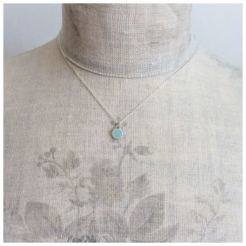 Colour Dot Pendant Pale Blue (Small)