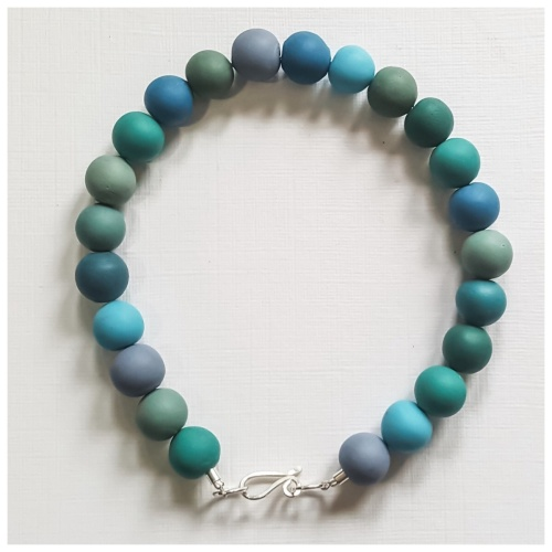 Teal Blue Beaded Bracelet
