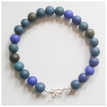 Dark Ink Blue Beaded Bracelet