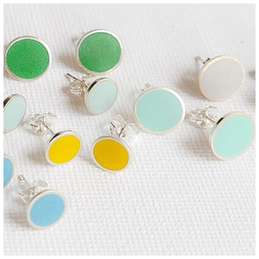 Medium Colour Dot Studs