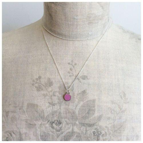 Colour Dot Pendant Raspberry Pink (Large)