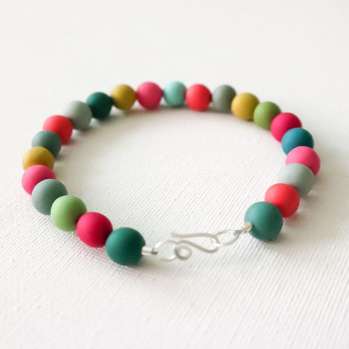 multi coloured bead bracelet Colour Desings