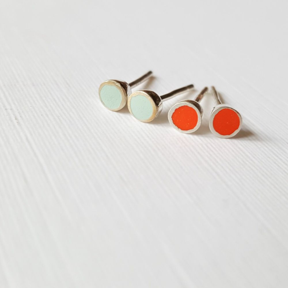 Colour Dot Studs - Tiny 3mm