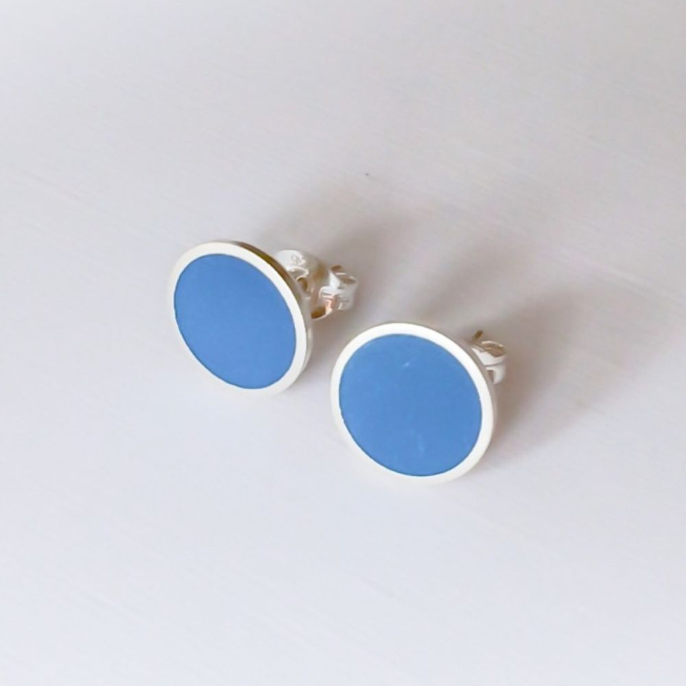 Colour Dot Studs - Large 8mm