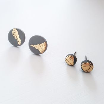 Small Metallic Stud Earrings