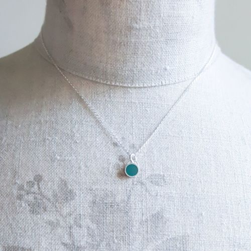 Colour Dot Pendant Forest Green (Small) LIMITED EDITION