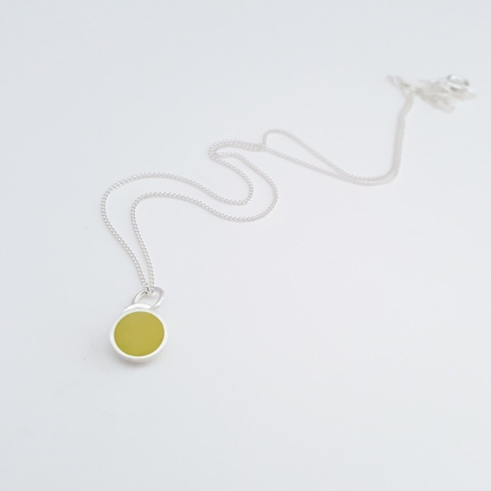 Colour Dot Pendant Sulphur Yellow (Small)