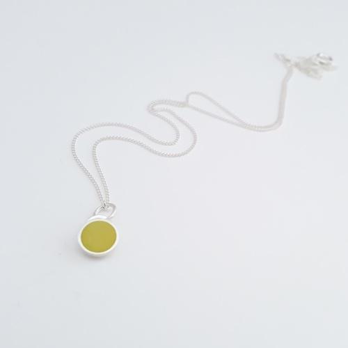 Colour Dot Pendant Sulphur Yellow (Small)