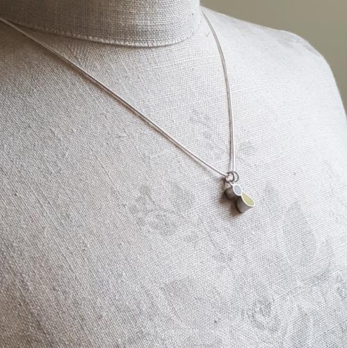 Double Colour Drop Interchangeable Pendant Necklace (Choice of colours)