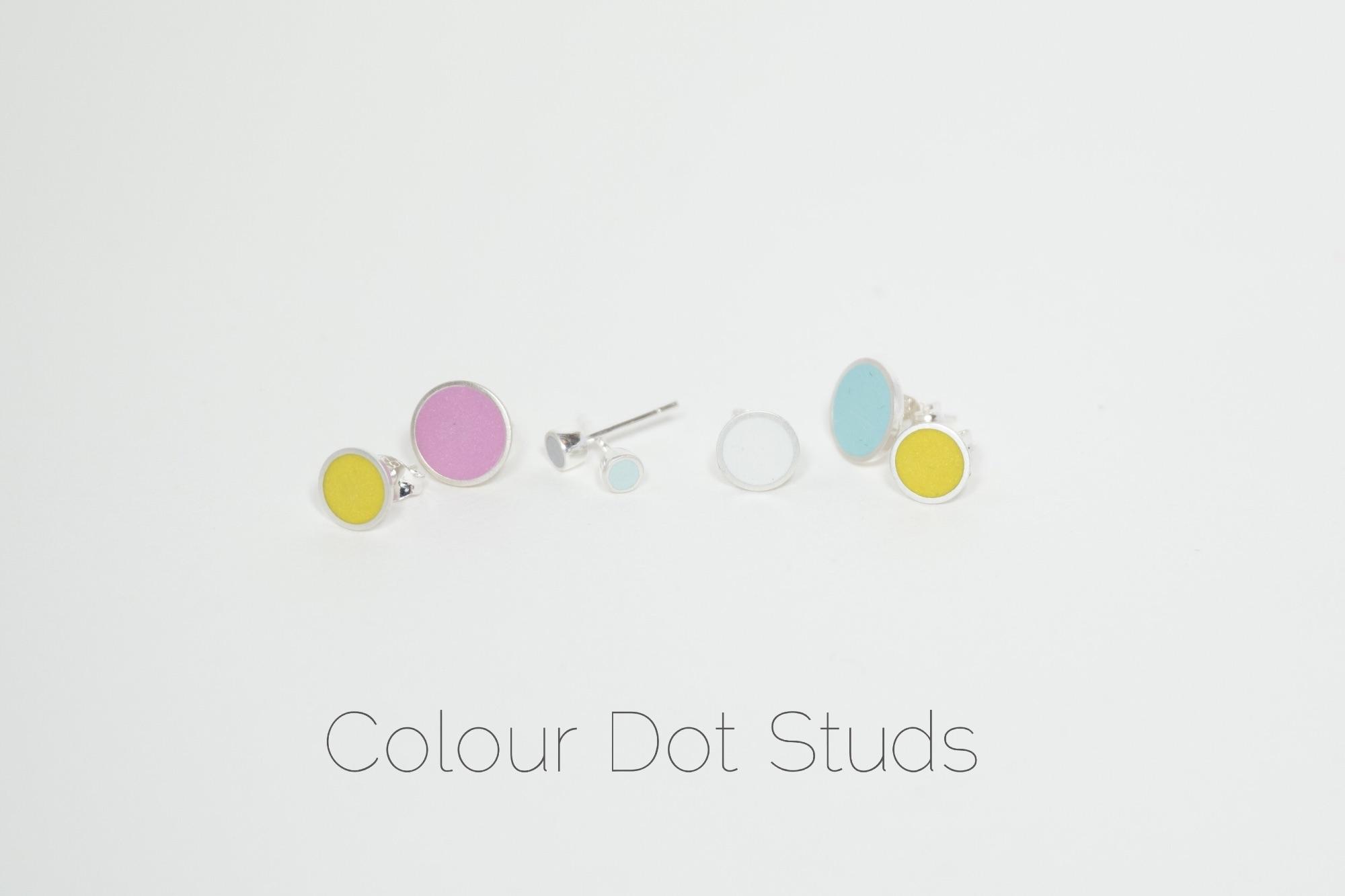 Colour Dot Studs