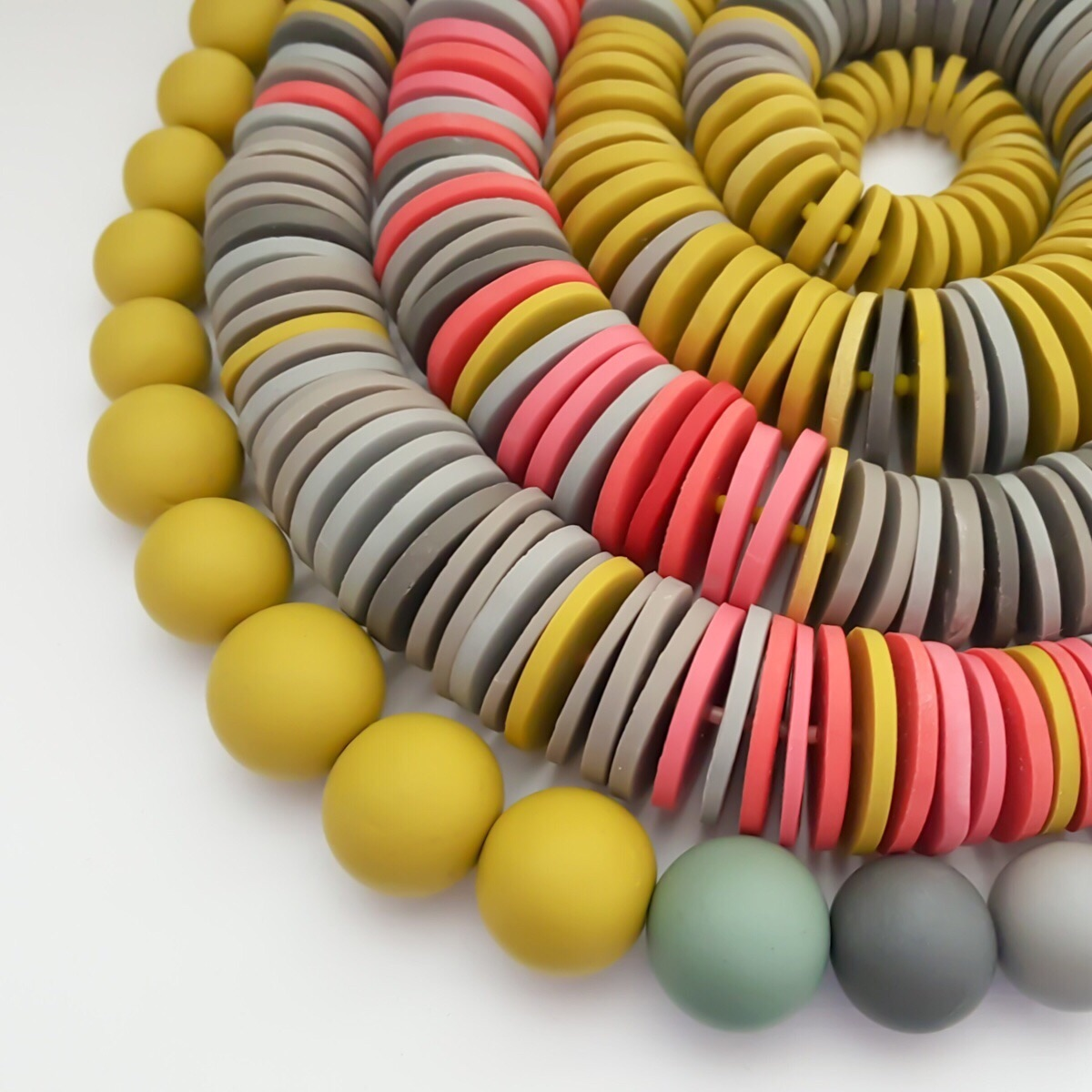 handmade polymer clay beaded necklaces by Colour Designs Jewellery