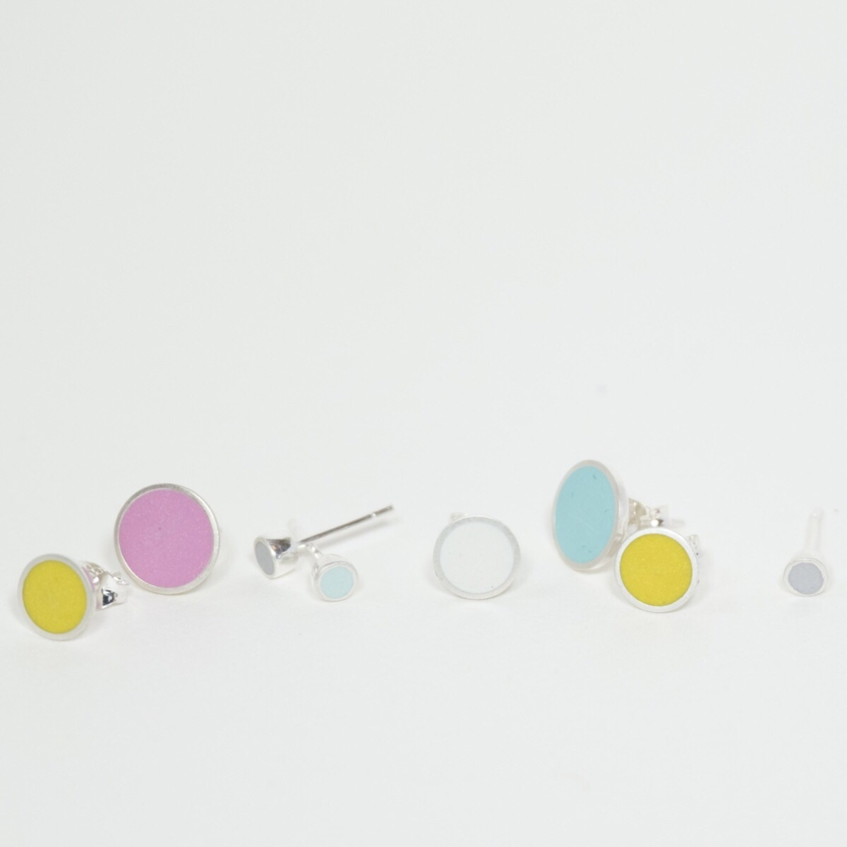 Multi Coloured Dot Stud Earrings by Colour Designs Jewellery