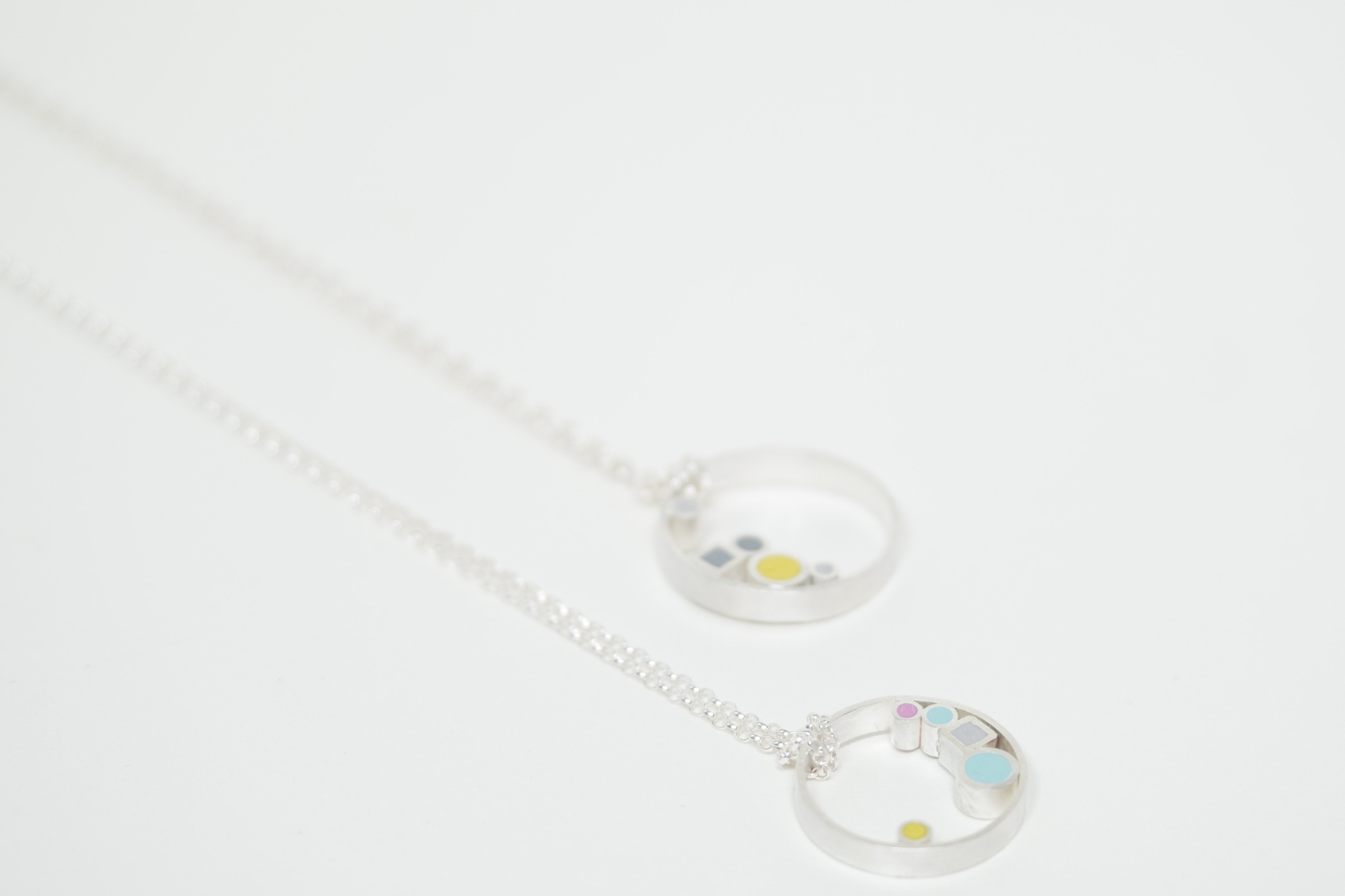 Inside Dot Sterling silver  Pendant Necklaces by Colour Designs Jewellery