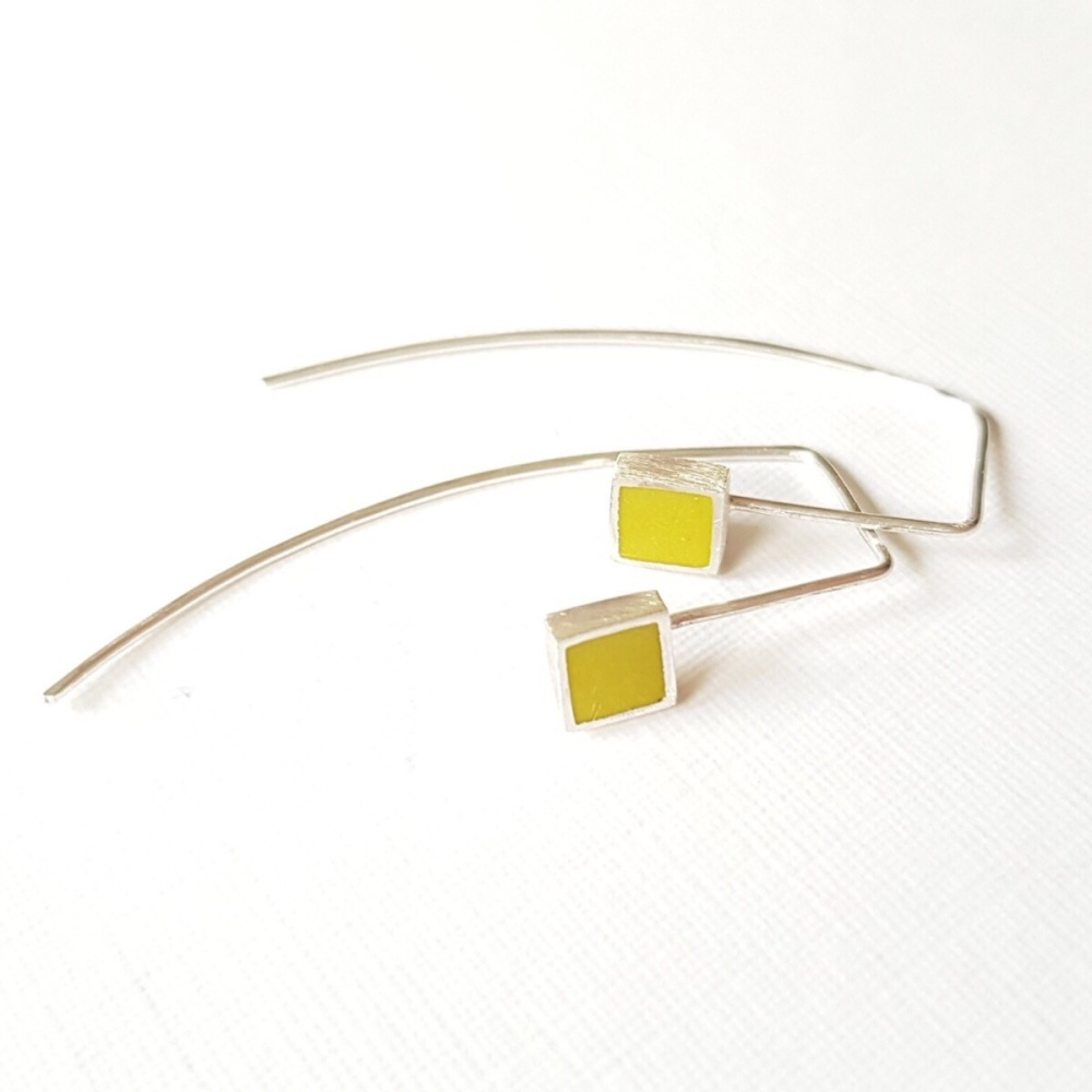 Contemporary Square Earrings in various colours