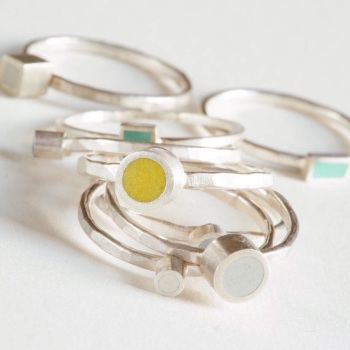 Colour Dot Stacking Ring