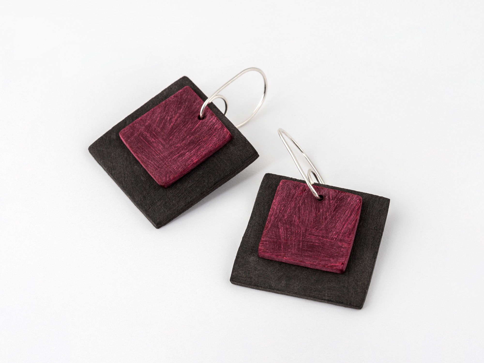 Colourful square earrings Colour Designs Jewellery