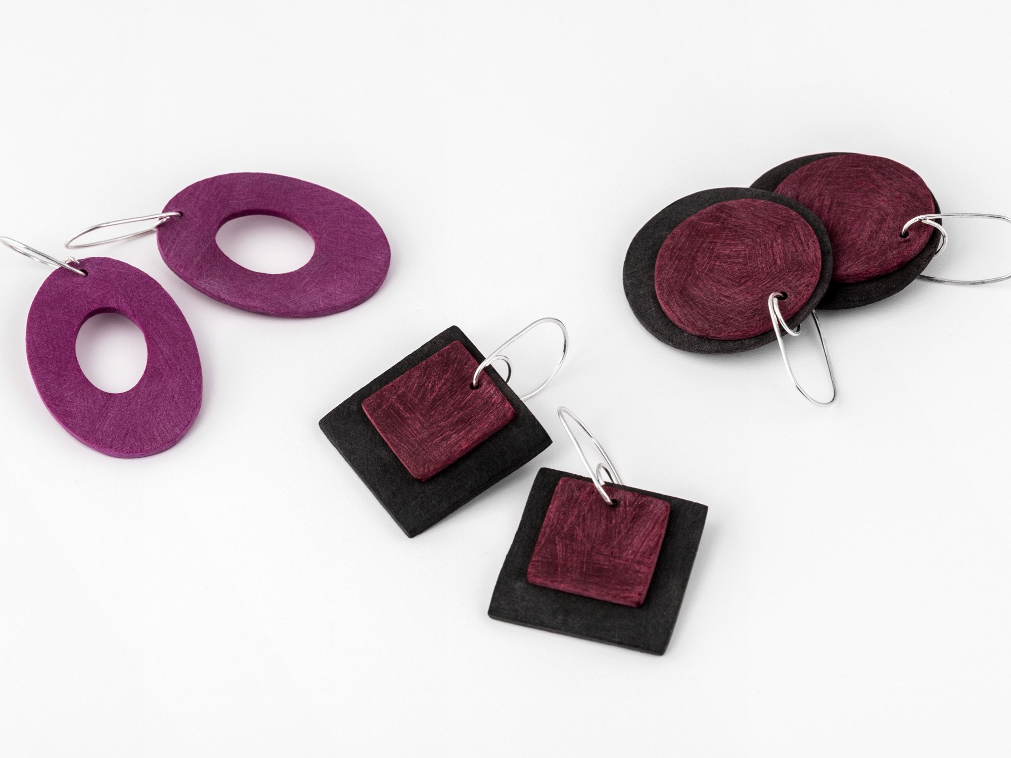 Statement colourful  earrings by Colour Designs Jewellery