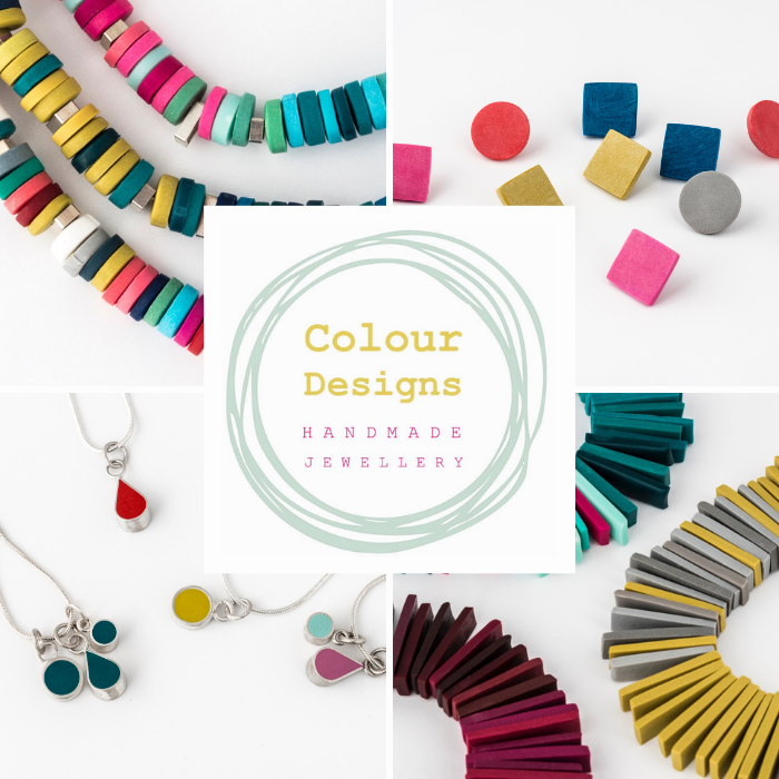 A selection of Colourful handmade jewellery by Colour Designs
