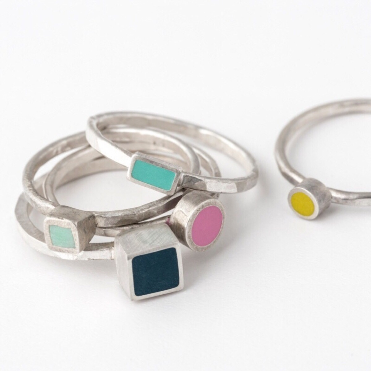Colour Dot Stacking Rings by Colour Designs
