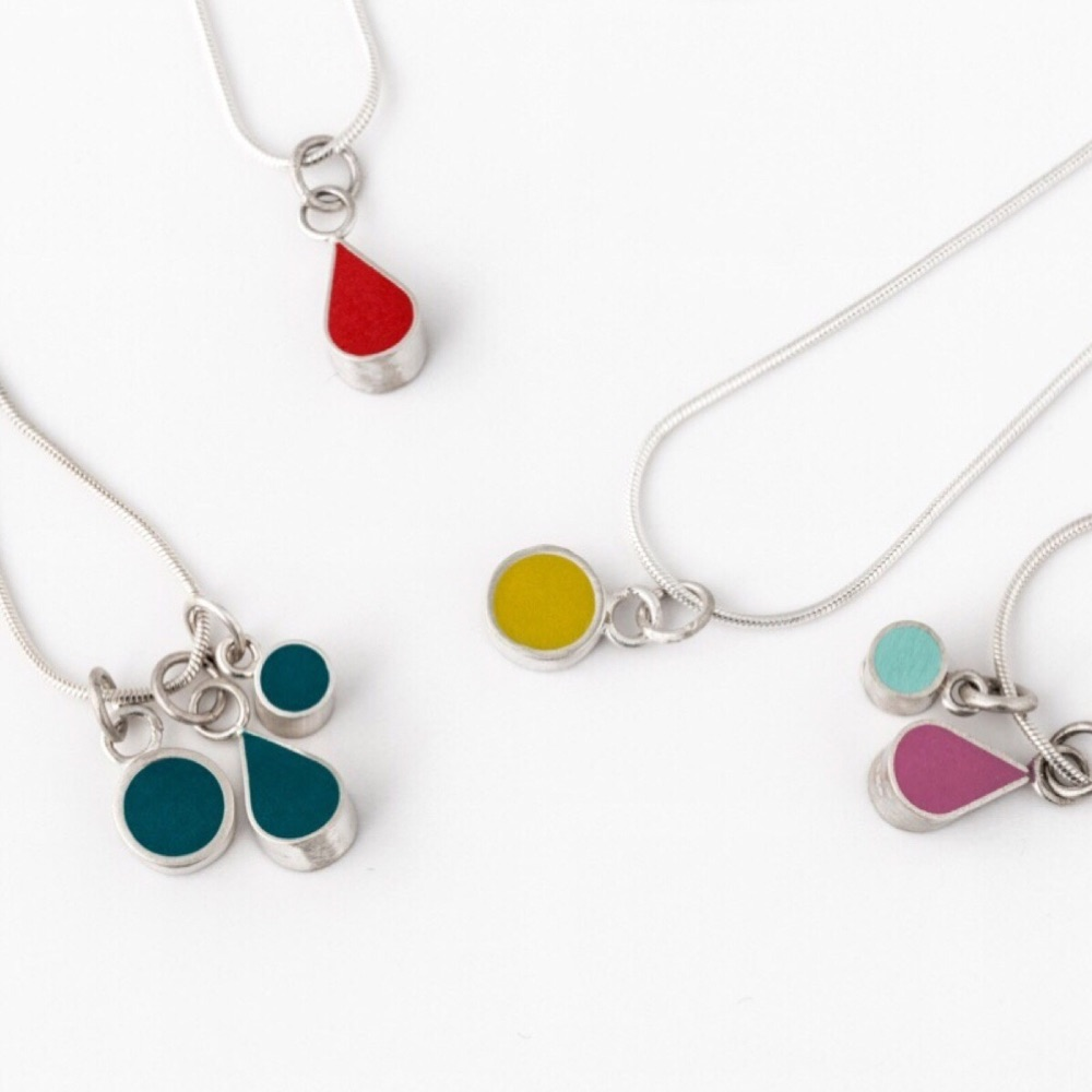 Colour Dot Pendants and Necklaces