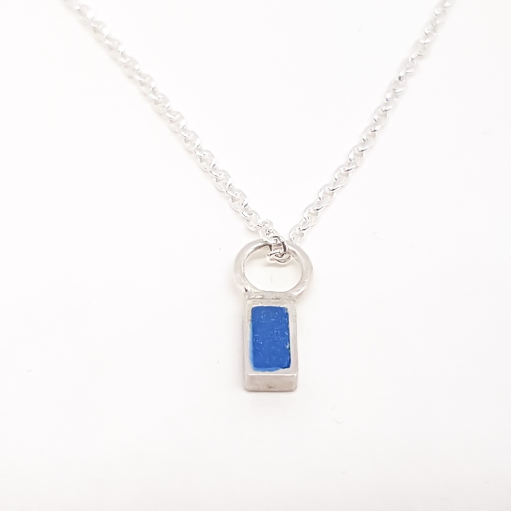 Tiny Rectangle Pendant in various colours