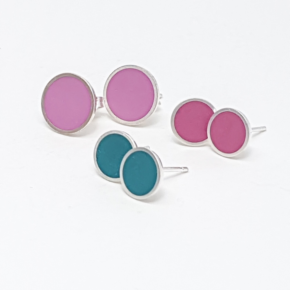 Large Colour Dot Studs