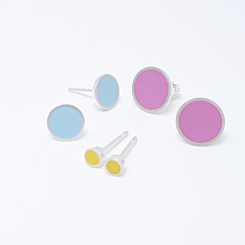 Medium Colour Dot Studs