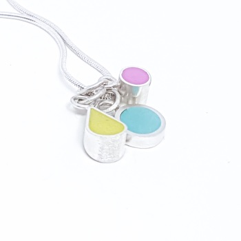 Trio Colour Drop Interchangeable Pendant Necklace (Choice of colours)