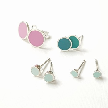 Small Chunky Colour Dot Studs