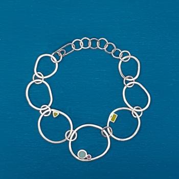 Statement Irregular Link Dot Bracelet