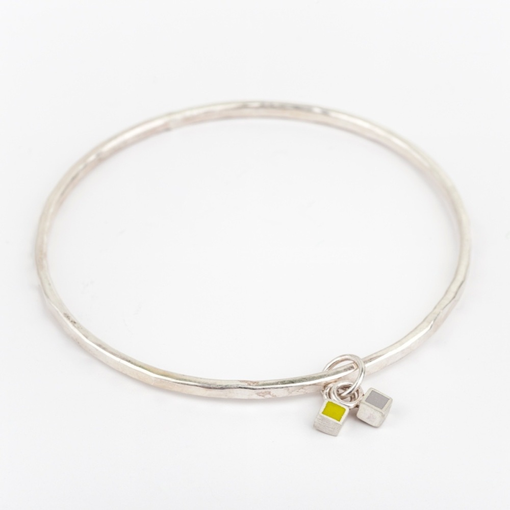 Duo Colour Dot Charm Bangle