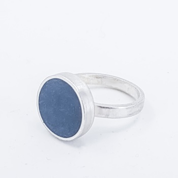 Large Midnight Blue Colour Dot Ring Size S