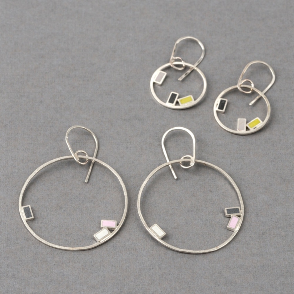Colour Dot Hoop Earrings