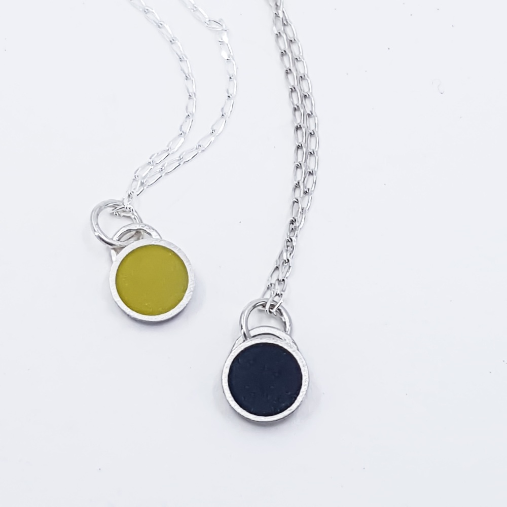 Small Colour Dot Pendants in various colours