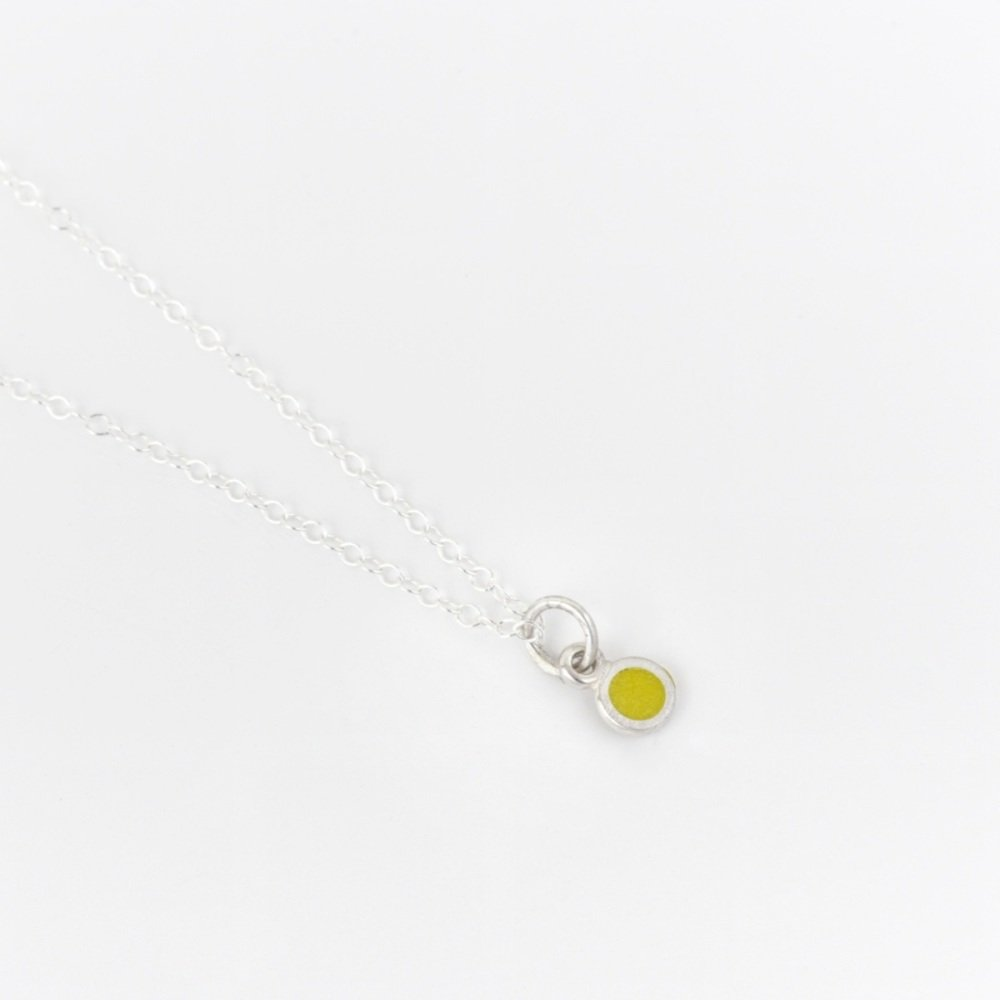 Tiniest Circle Pendant in various colours