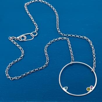Large Inside Dot Necklace