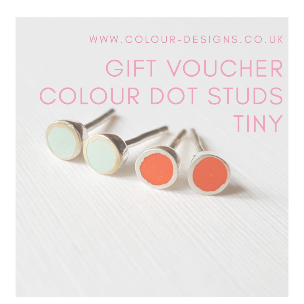 Gift Voucher for Tiny Colour Dot Studs