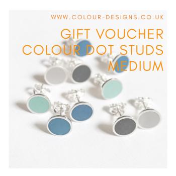 Gift Voucher for Medium Colour Dot Studs